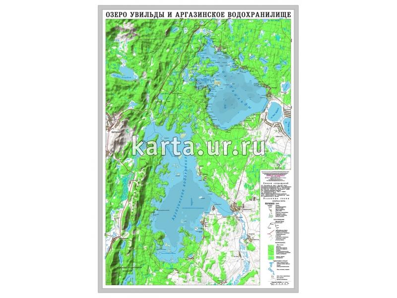 карта глубин аргази
