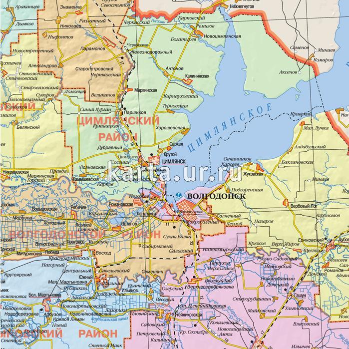 Ростов-на-дону карта города с