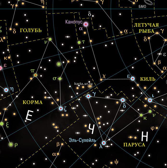 Карта звездного неба дг